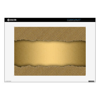 Gold Torn Edge Effect template text banner Laptop Skins
