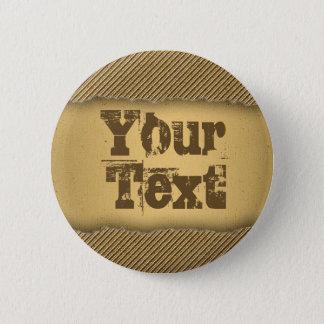 Gold Torn Edge Effect template text banner Pinback Button