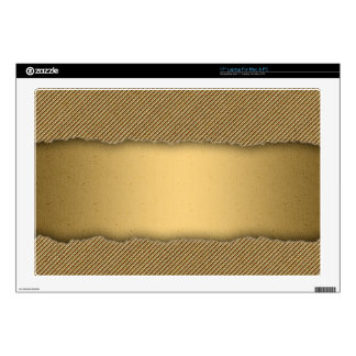 """Gold Torn Edge Effect template text banner Skin For 17"""" Laptop"""