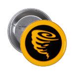 Gold Tornado 2 Inch Round Button