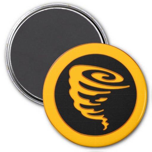 Gold Tornado 3 Inch Round Magnet