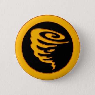 Gold Tornado Pinback Button