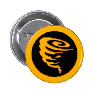 Gold Tornado Pinback Button
