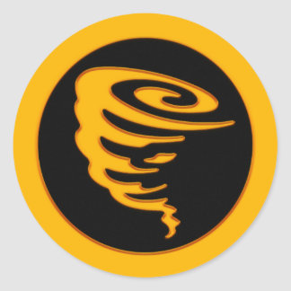 Gold Tornado Classic Round Sticker