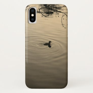 Gold tranquility iPhone x case