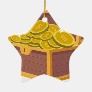 Gold Treasure Ceramic Ornament