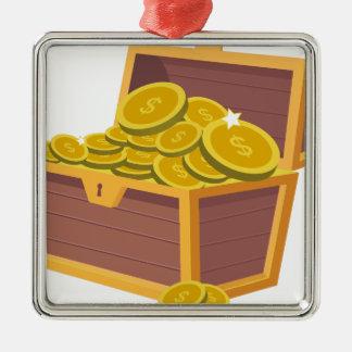 Gold Treasure Metal Ornament