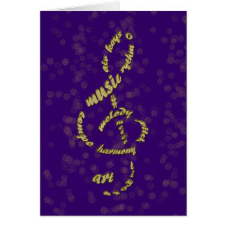 gold treble clef card