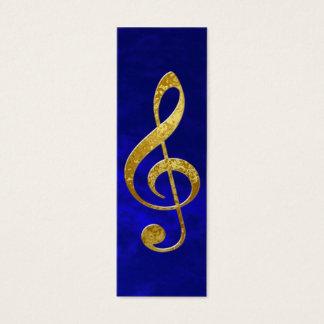 gold treble clef mini business card