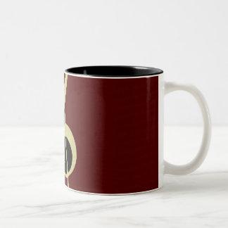 Gold Treble Clef Mug by Leslie Harlow