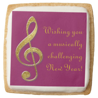 """gold"" treble clef premium shortbread cookies"