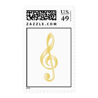 """Gold"" Treble Clef Stamp"