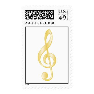 """""""Gold"""" Treble Clef Stamps"""