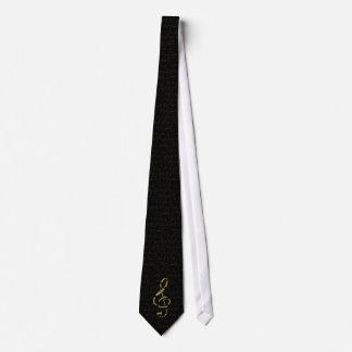 gold treble clef tie