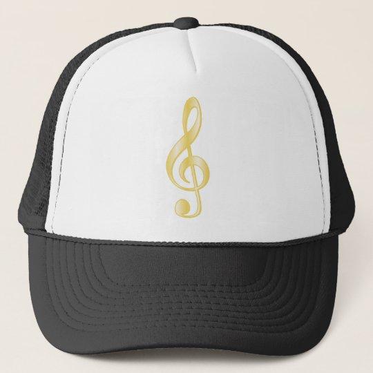 """Gold"" Treble Clef Trucker Hat"