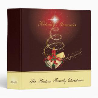 Gold Tree, Bells & Holly Christmas Album Binders