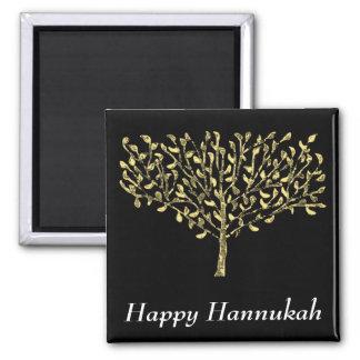 Gold Tree Chanukah Magnet