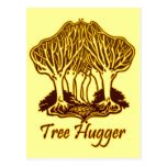 Gold Tree Hugger Nature Trees Environment Post Card