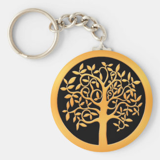 Gold Tree Keychain