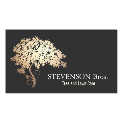 Gold Tree Lawn Care Landscape and Garden Designer Business Cards