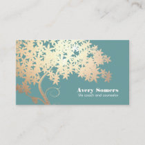 Gold Tree of Life Counselor Therapist Business Card