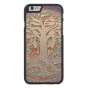 Gold Tree with Butterly Carved Maple iPhone 6 Case (<em>$42.20</em>)