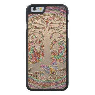 Gold Tree with Butterly Carved® Maple iPhone 6 Case