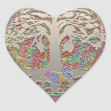 Gold Tree with Butterly Heart Sticker (<em>$5.25</em>)