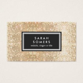Gold Trendy Fun  FAUX Sequin Beauty Salon Business Card