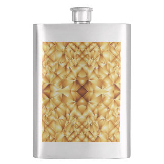 Gold triangle abstract pattern flask