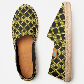 Gold Triangular Diamond Pattern, ZEA Canvas Espadrilles