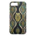 Gold Tribal Owl on Boho Abalone Pattern iPhone 8 Plus/7 Plus Case