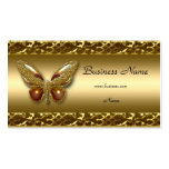 Gold Trim Butterfly Elegant Business Card