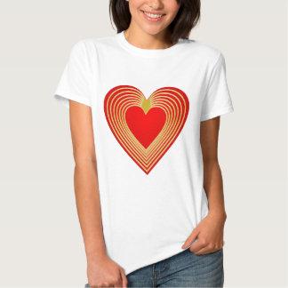 Gold trimmed heart t shirt