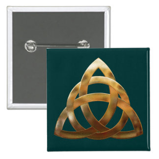 Gold Trinity Knot Button