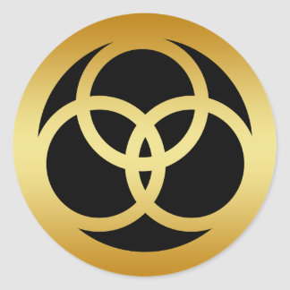 GOLD TRINITY KNOT STICKERS