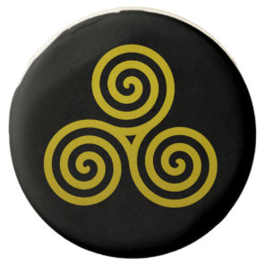 Gold Triple spiral Chocolate Dipped Oreo