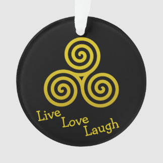 Gold Triple spiral live love laugh