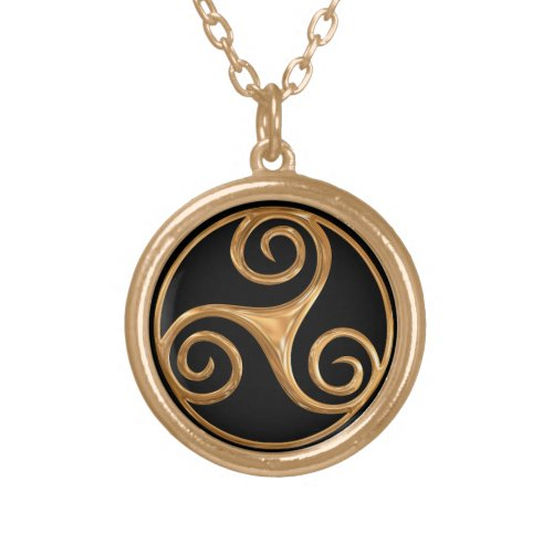 Gold Triskelion