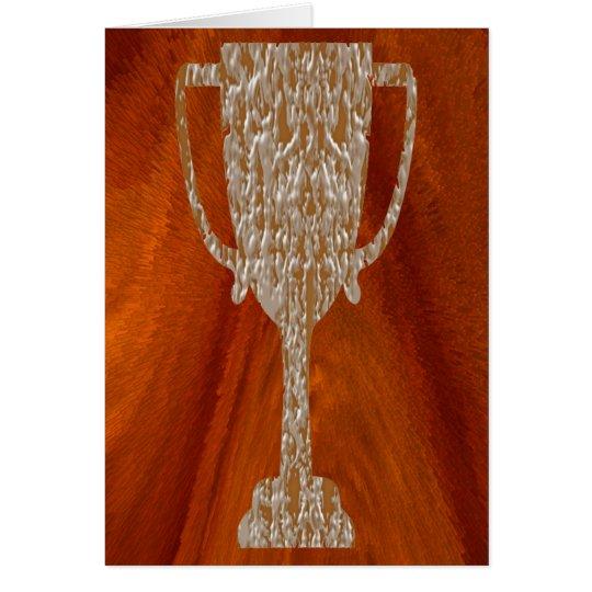 Gold TROPHY : Award Reward Celebration Card
