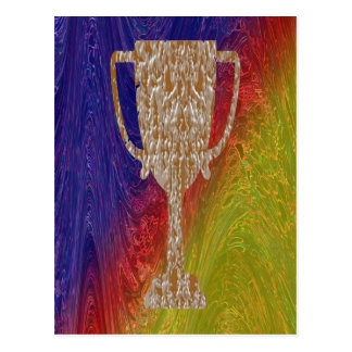 Gold TROPHY : Award Reward Celebration Postcard