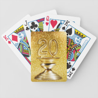 Gold Trophy Bicycle Playing Cards