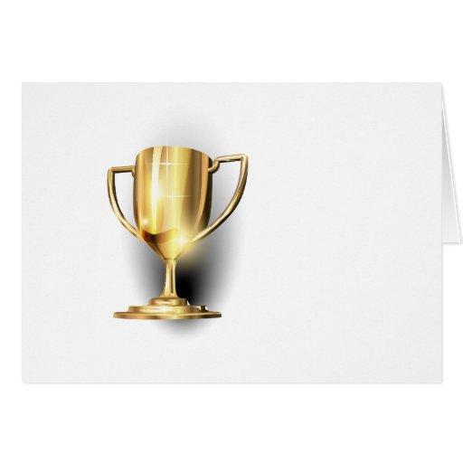 Gold Trophy Card