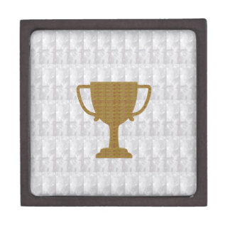 GOLD Trophy Crystal White Background NVN287 Winner Gift Box