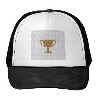 GOLD Trophy Crystal White Background NVN287 Winner Hats