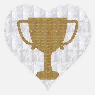 GOLD Trophy Crystal White Background NVN287 Winner Heart Sticker