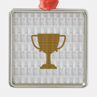 GOLD Trophy Crystal White Background NVN287 Winner Christmas Ornaments