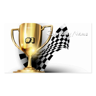 Gold Trophy NUmber One Dad Father's Day Business Card