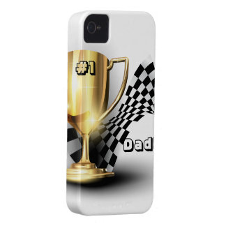 Gold Trophy NUmber One Dad Father's Day Case-Mate iPhone 4 Case