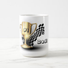 Gold Trophy NUmber One Dad Father's Day Coffee Mug
